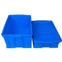 塑料箱周转箱物流运输食品中转箱红黄蓝绿白色加厚五金胶箱带盖