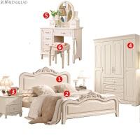 简约欧式田园家具 床套装衣柜 韩式 卧室组合家具 套房家具六件套