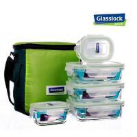 三光云彩Glasslock耐热钢化玻璃保鲜盒饭盒 5件套礼盒装GL33-5A