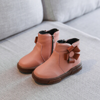 女童靴子公主鞋2018冬季新款韩版女童鞋短靴皮靴儿童雪地靴棉鞋潮