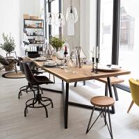 北欧实木办公桌长方形会议桌长桌简约现代洽谈桌长桌子工作台餐桌