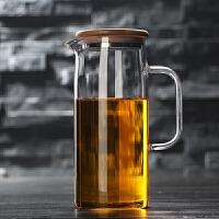 水壶 家用中式手工制造耐热高温玻璃冷水壶晾凉白开水杯扎壶防爆大容量透明圆把凉水壶