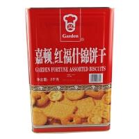 【包邮】嘉顿(Garden) 红福什锦饼干 2000g 罐装 新年年货饼干
