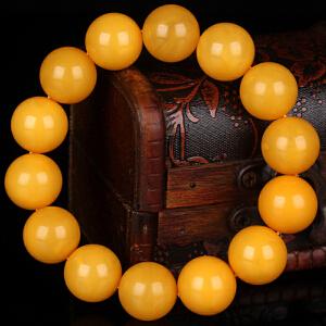 蜜蜡满蜡无伤无杂无裂圆珠手串 直径17mm 重量37.24g