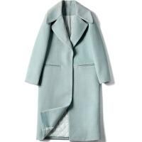 毛呢外套女中长款韩版2018冬新款气质过膝赫本风加厚学生呢子大衣