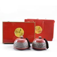 茶叶包装礼盒陶瓷茶叶罐通用双罐绿茶普洱碧螺春密封罐半斤装空盒