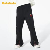 巴拉巴拉儿童裤子女童长裤春季小童宝宝休闲裤韩版百搭弹力喇叭裤