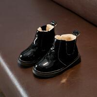 儿童马丁靴2018冬季新款韩版男童鞋皮靴短靴女童靴子雪地靴棉鞋潮