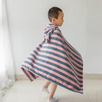 儿童浴巾斗篷带帽可穿纯棉吸水专用大童冬天厚款小孩洗澡加厚浴袍