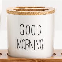 创意可爱情侣洗漱口杯刷牙杯套装韩国卡通牙刷杯家用牙缸陶瓷居家生活日用