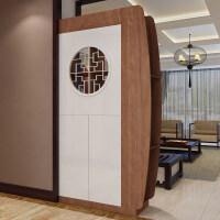 现代简约中式玄关柜隔断柜玄关屏风柜客厅隔断柜厅间柜门厅玄关柜 组装