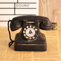 复古民国电话机老爷公馆摄影道具家用办公创意座式电话 怀旧上海滩家用座机模型摆件