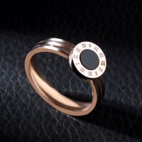 韩版钛钢玫瑰金罗马情侣戒指男女对戒尾戒食指关节戒指指环
