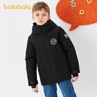 【2件4折�r:227.6】巴拉巴拉�和�羽�q服童�b2020冬�b新款男童羽�q服中大童工�b�L外套
