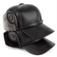 男士冬季护耳帽中老年人帽子加厚保暖老人帽棒球帽棉帽