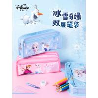 迪士尼小学生笔袋公主儿童文具盒女孩铅笔盒简约女生大容量铅笔袋文具袋包邮铅学习用品六一幼儿园笔袋1