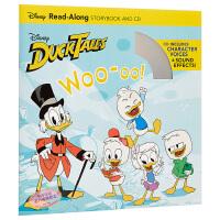 迪士尼独立阅读故事 唐老鸭 英文原版 Ducktales Woo-oo! 附CD 分级阅读 故事绘本