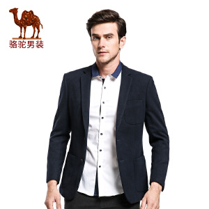 骆驼&熊猫联名系列男装 冬装新款外套便西修身休闲两粒扣西服