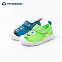 迷你巴拉巴拉宝宝学步鞋2021夏季新款男童女童透气魔术贴学步鞋