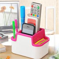 多功能收纳盒/遥控器盒/笔盒 笔筒化妆品梳妆台盒简约家用面膜整理盒多色随机发货