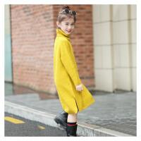 大童女童毛衣裙韩版9小学生10初中裙加厚高领长款打底衫12-15岁
