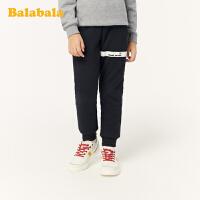 巴拉巴拉儿童裤子男童加绒长裤2019新款中大童运动裤加厚时尚保暖