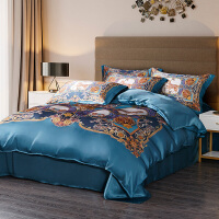 真丝四件套桑蚕丝床上用品被套床单丝绸婚庆蚕丝床品套件