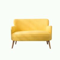单人沙发北欧 简约现代懒人 阳台卧室客厅布艺休闲家用沙发椅 双人