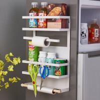 百露磁吸式冰箱挂架侧壁挂架收纳架调味架厨房置物免打孔洗衣机架