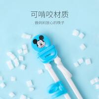迪士尼儿童筷子训练筷3岁家用餐具男女孩练习筷一段宝宝学习筷子