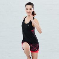 运动背心女 健身修身速干撞色背心运动无袖T恤