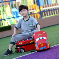 儿童旅行箱男孩18寸拉杆箱汽车皮箱行李箱多功能户外旅行箱手拉箱