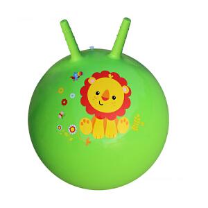 【当当自营】费雪FisherPrice 18寸手柄加厚羊角跳跳球充气球幼儿园儿童户外玩具球跳跳球(送脚泵) 绿色狮子F0702