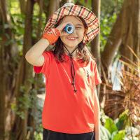【到手价:49元】探路者童装 2020春夏新款户外通款速干排汗儿童短袖T恤QAJI85005
