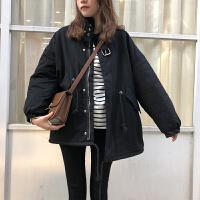 工装外套女棉衣2018冬季加厚韩版bf宽松学生大码外套