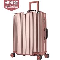 新款杆箱万向轮旅行箱男女行李箱20/24/26/28英寸密码皮箱铝框登机箱箱子