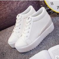 厚底休闲白鞋内增高女鞋韩版潮流学生百搭网红小白鞋