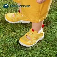 迷你巴拉巴拉婴儿学步鞋2021夏款男女宝宝透气防滑易穿脱鞋子