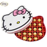 【顺丰包邮】费列罗(FERRERO) DIY 23粒金莎巧克力KT猫礼盒 情人节礼物