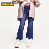 巴拉巴拉童装儿童牛仔裤女童裤子秋装2019新款中大童时尚洋气长裤