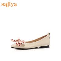 【减后价:209元】SAFIYA/索菲娅尖头蝴蝶结一脚蹬甜美女鞋SF01111084