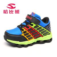哈比熊童鞋新款儿童运动鞋加绒男童鞋减震耐磨休闲男运动鞋潮