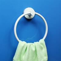 dehub吸盘毛巾杆 厨房擦手毛巾架 浴室浴巾挂环 防水无痕浴巾架 白色