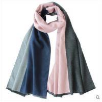 韩版潮百搭撞色格子双面加厚保暖围巾披肩两用 新品男女通用