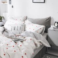 北欧纯棉床上用品四件套全棉双人床单网红被套单人学生宿舍三件套
