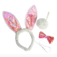大贸商兔女郎发箍 头饰装扮领结尾巴舞会派对儿童配饰3件KJ00435
