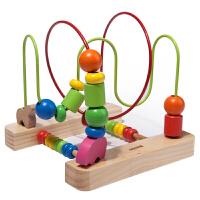 木玩世家木质串珠架儿童早教益智绕珠架木制宝宝玩具1-2-3-6岁YT5219