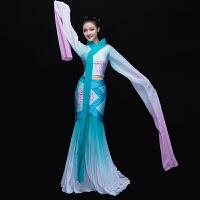 2017新款古典舞演出服装女中国风汉服戏服舞台表演采薇舞蹈服水袖 长水袖