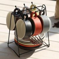 【家装节 夏季狂欢】欧式咖啡杯套装组带碟勺杯架陶瓷英式下午茶水杯子家用马克杯简约
