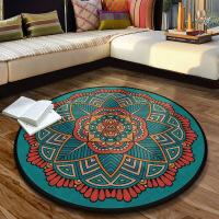 欧式圆形客厅地毯民族风复古曼陀罗古典阳台茶几吊篮装饰卧室